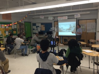 Gerard Koeppel at Mather High School - Association of American Publishers Adopt-a-School program