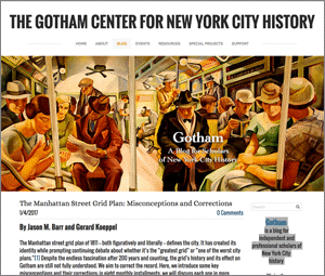 The Gotham Center for New York City History blog